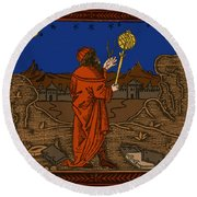 The Astrologer Albumasar Round Beach Towel