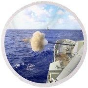The Australian Navy Frigate Hmas Round Beach Towel