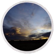 The Autumn Sky  Round Beach Towel