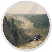 The Avon Gorge - Looking Over Clifton Round Beach Towel