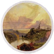 The Avon Gorge At Sunset  Round Beach Towel