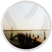 The Back Bay Round Beach Towel