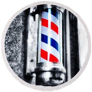 The Barber Pole Round Beach Towel