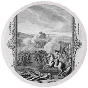 The Battle Of Culloden Round Beach Towel
