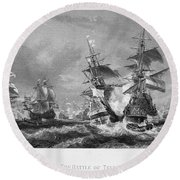 The Battle Of Texel, 1673 Round Beach Towel