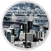The Bay Bridge Round Beach Towel