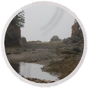 The Bay Of Fundy Round Beach Towel
