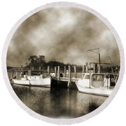 The Bayou Round Beach Towel by Barry Jones