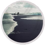 The Beach Round Beach Towel by Joana Kruse