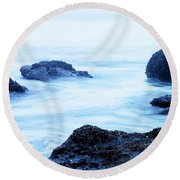 The Beautiful Brine Unsettled Round Beach Towel