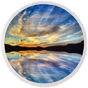 The Beauty Before The Darkness Round Beach Towel