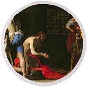 The Beheading Of John The Baptist Round Beach Towel