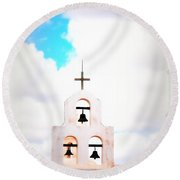 The Belltower In Tuscon Az Round Beach Towel