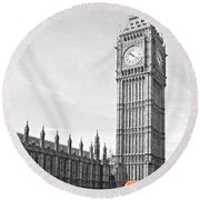 The Big Ben - London Round Beach Towel
