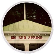 The Big Red Spring Round Beach Towel by Lisa Russo