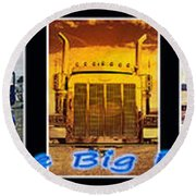 The Big Rigs Group Pic Round Beach Towel