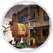 The Big Texan - Impressions Round Beach Towel