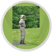 The Birdwatcher Round Beach Towel