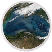 The Black Sea In Eastern Russia Round Beach Towel by Stocktrek Images