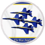 The Blue Angels Round Beach Towel