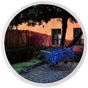 The Blue Cart Round Beach Towel