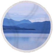 The Blue Shore Round Beach Towel