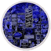 The Blues In Memphis Round Beach Towel by Carol Groenen