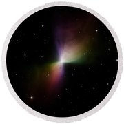 The Boomerang Nebula Round Beach Towel