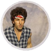 The Boss Round Beach Towel by David Dehner