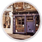 The Bow Bar. Edinburgh. Scotland Round Beach Towel
