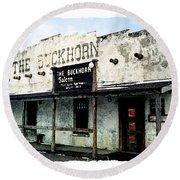 The Buckhorn Saloon Round Beach Towel