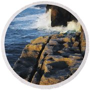 The Burren, Co Clare, Ireland Round Beach Towel