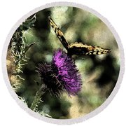 The Butterfly I Round Beach Towel