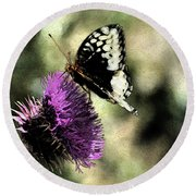 The Butterfly II Round Beach Towel