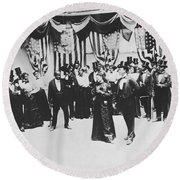 The Cakewalk Round Beach Towel by Photo Researchers
