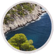 The Calanques Round Beach Towel
