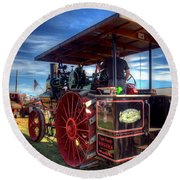 The Capp Family Case Engine 2 Round Beach Towel