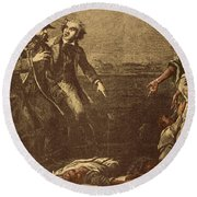 The Capture Of Margaret Garner Round Beach Towel by Photo Researchers