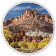 The Castle Round Beach Towel