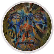 The Change Of Faces Round Beach Towel