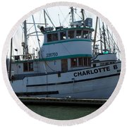The Charlotte B Round Beach Towel by Chalet Roome-Rigdon