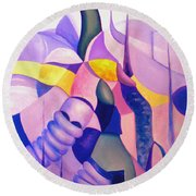The Chase 3  Round Beach Towel