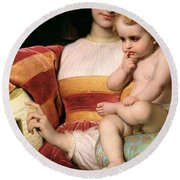The Childhood Of Pico Della Mirandola Round Beach Towel