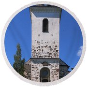 The Church Of Kuopio Round Beach Towel