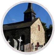 The Church Of Sainte-onenne Round Beach Towel