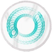 The Circle II Round Beach Towel