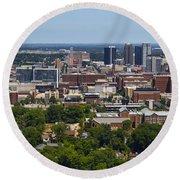 The City Of Birmingham Alabama Usa Vertical Round Beach Towel
