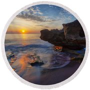 The Cliffs Of Florida Round Beach Towel