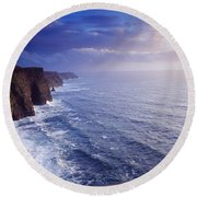 The Cliffs Of Moher, County Clare Round Beach Towel
