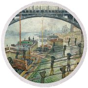 The Coal Workers Round Beach Towel